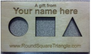 Custom Message Round Square Triangle