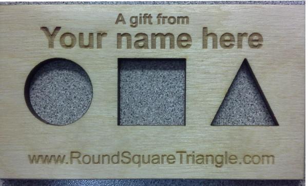 Custom Message Round Square Triangle
