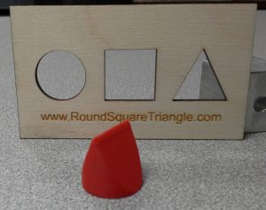 Red Round Square Triangle & Card