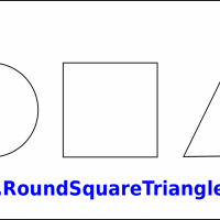 Custom Large Round Square Triangle