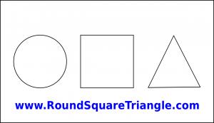 Custom Large Round Square Triangle